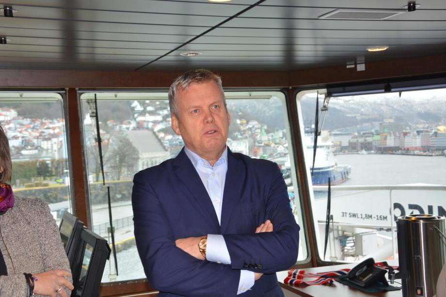 Helge Møgster klar med redningsplan for Dof. Foto: Gustav-Erik Blaalid.
