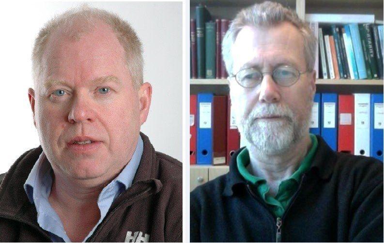 Professor Frank Nilsen og Arne Skorping.