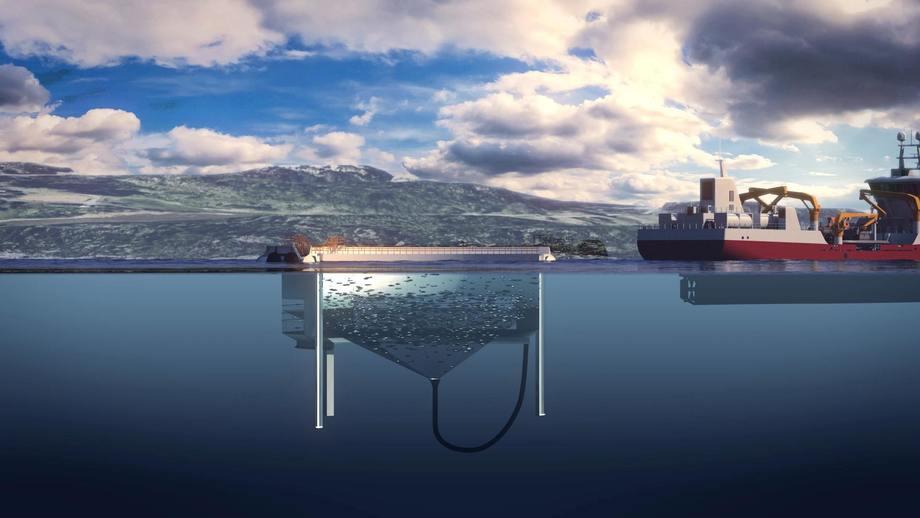 Aquatraz-illustrasjon fra Midt Norsk Havbruk/Midt Norsk Produksjon.