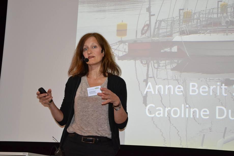 Caroline Durif, forsker ved Havforskningsinstituttet på Austevoll. Foto: Linn-Therese Skår Hosteland.