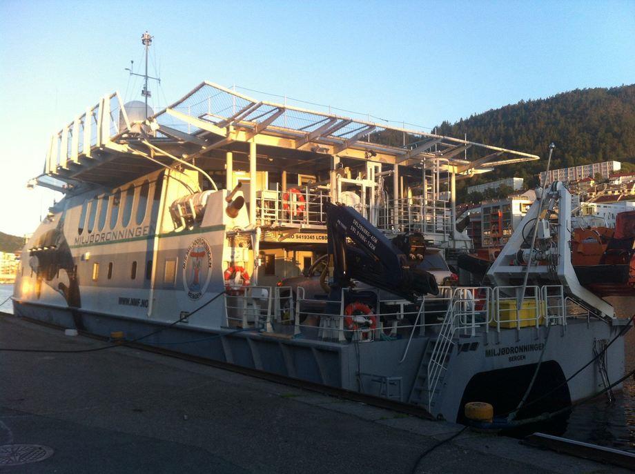 Miljødronningen reiste fra Bergen mandag, Foto: NMF.