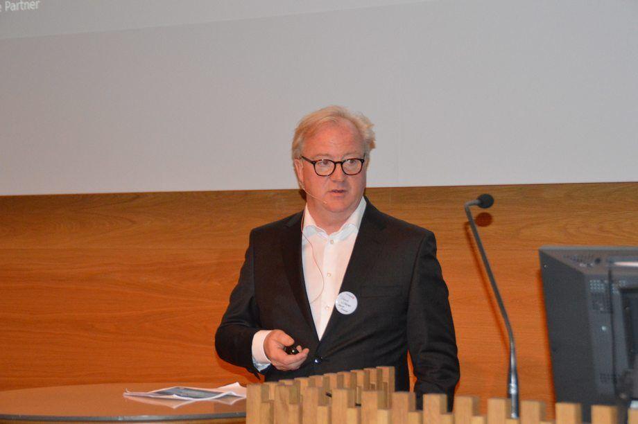 Konsernsjef Trond Williksen  fra Salmar. Foto: Gustav-Erik Blaalid.