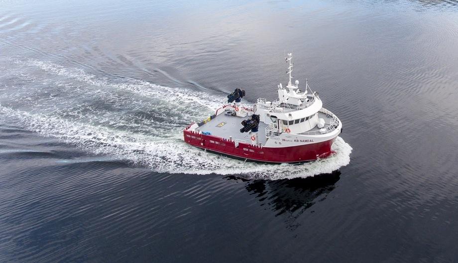 Illustrasjonsfoto av servicefartøyet KB Namdal. Foto: KB Dykk.