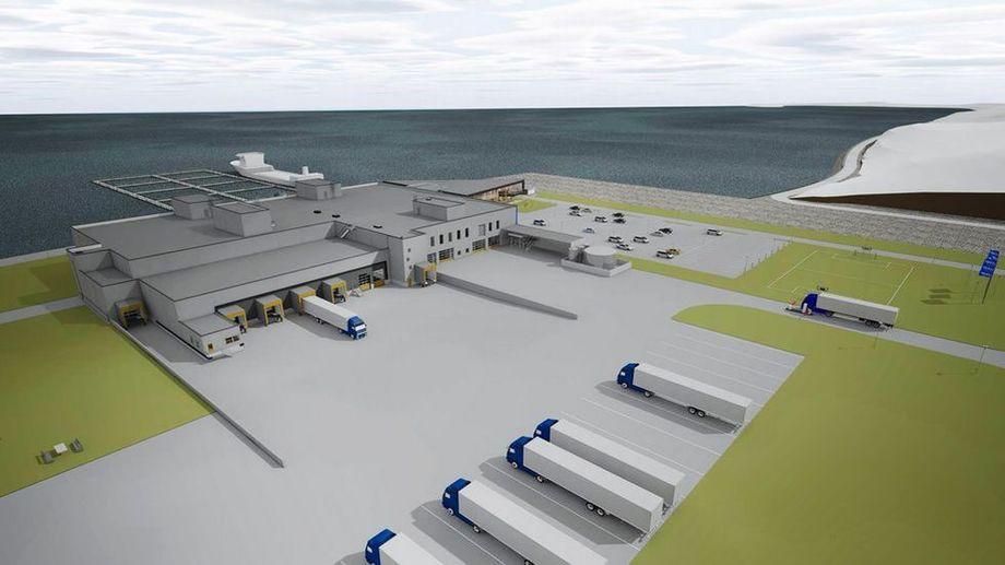 Slik ønsker de at den nye fabrikken skal se ut. Illustrasjon: Lerøy Midt.