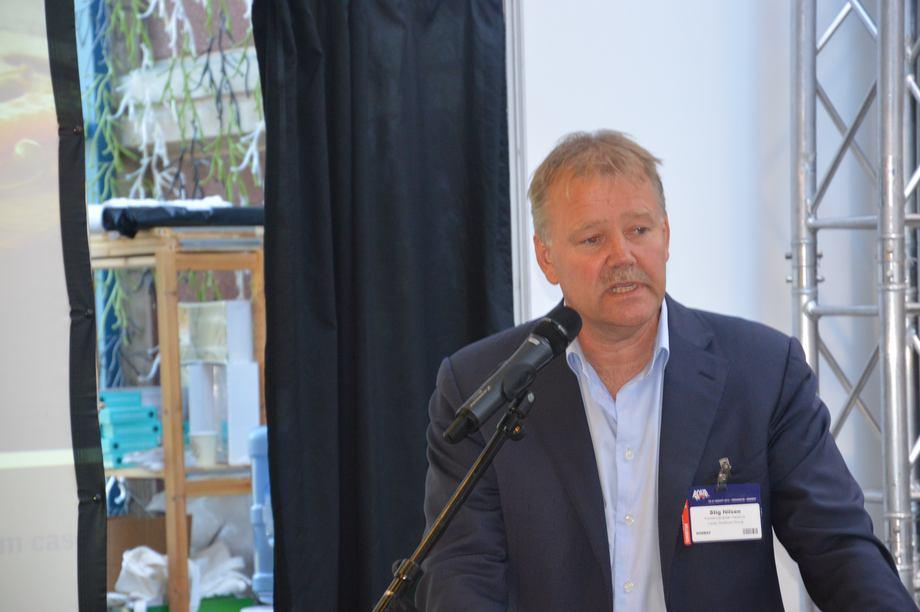 Stig Nilsen, konserndirektør for  havbruk i Lerøy Seafood Group. Foto: Therese Soltveit.