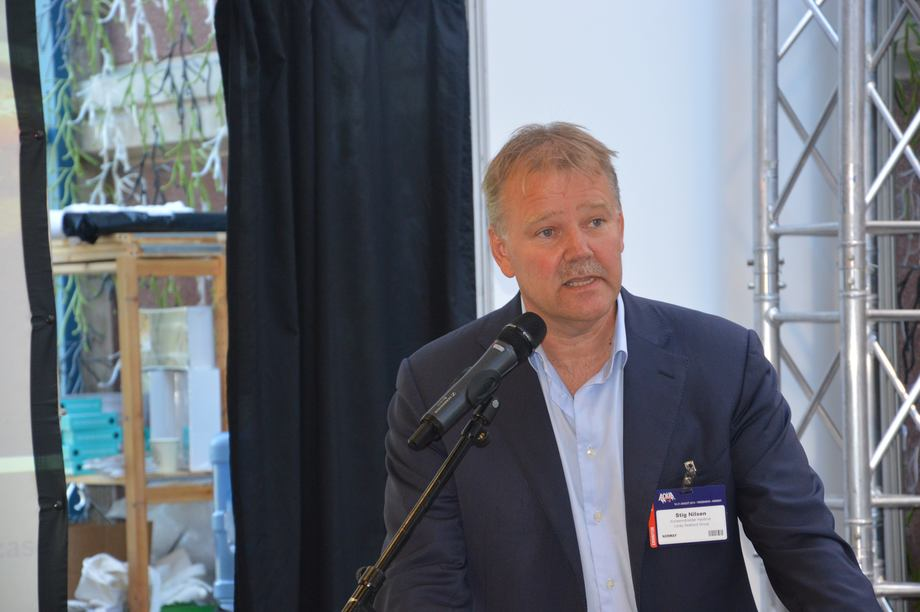 Stig Nilsen, konserndirektør havbruk i Lerøy Seafood Group. Foto: Therese Soltveit.