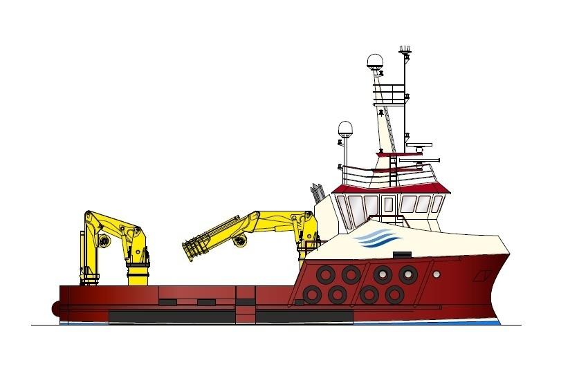 Arbeidsbåt nr 123 bygges nå av Havyard Ship og skal leveres til det skotske rederiet Inverlussa Marine Services. Et tilsvarende fartøy (byggenummer 130) bare større er nå også under planlegging og skal stå klar i september 2017. Foto: Havyard Ship.