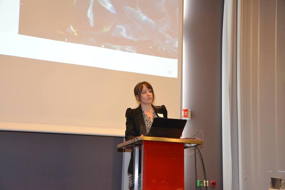 Susanna Lybæk under FHFs havbrukssamling 2016. Foto: Linn Therese Skår Hosteland.