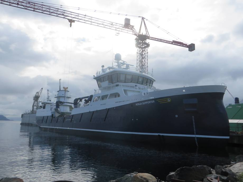 Aas Mekanisk leverer nybygg nr. 196 – MS Ronja Supporter til Sølvtrans. Foto: Aas Mek. Verksted AS.