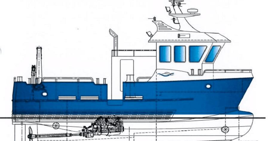 Folla Maritime Service AS (FMS) har inngått avtale med NRS Finnmark AS om levering av to servicefartøy av typen FollaWork 35 våren 2017. Illustrasjon. Folla Maritime.
