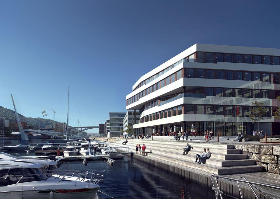 Cargills nye hovedkontor på Marineholmen. Illustrasjon: Mir.