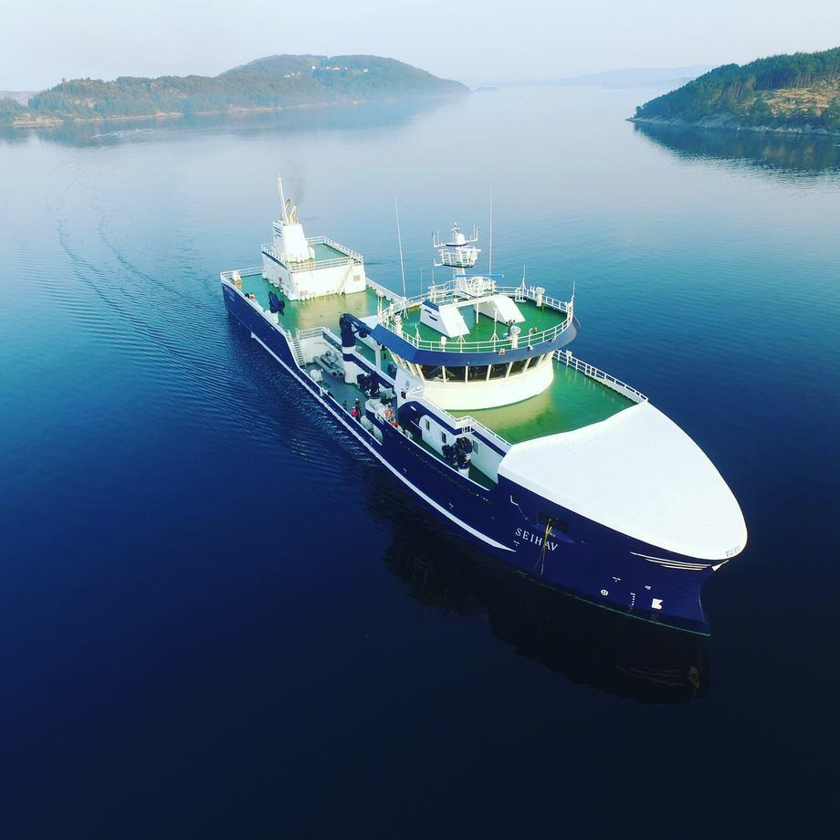 Brønnbåten Seihav har en av de største kapasitetene langs Norskekysten. Foto: Mowi Star.