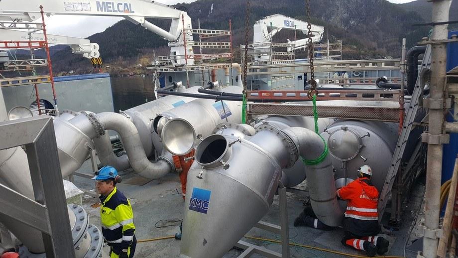 Det installeres to linjer med Optilice med en avlusingskapasitet på 100 tonn fisk i timen på Bakkafrost sin båt