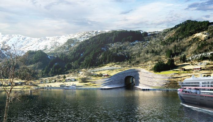 Frp sikrer byggestart for Stad skipstunnel. Foto: Prosjektgruppen.