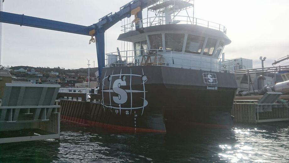 SAS LEO er sjøsatt og klar for siste finpuss, melder selskapet på sine Facebook-sider nylig. Foto: Servicebåt As.