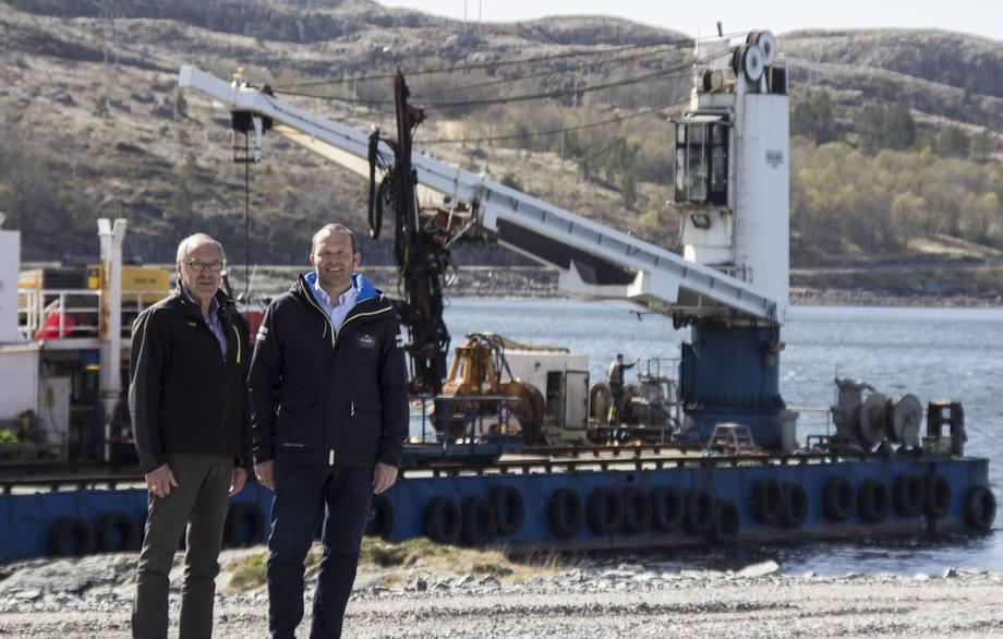 Klare for bygging av ny havn i rørvik.Foto: NT Havn Rørvik IKS.