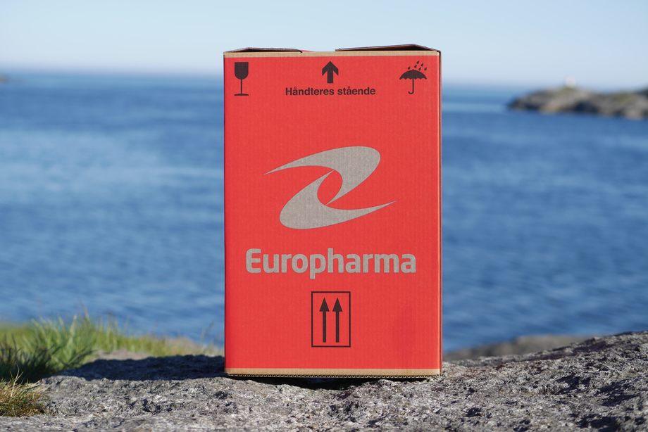 Eske for retur av legemidler som ikke er brukt. Foto: Europharma.