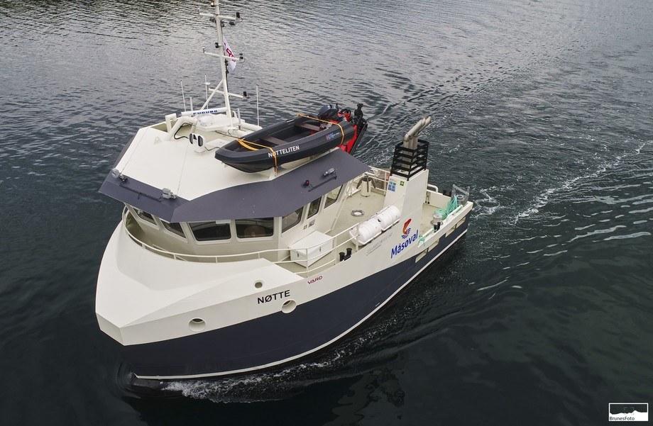 Den nye båten «Nøtte» ved overlevering fra Vard Aukra. Foto: Kjell Stian Brunes