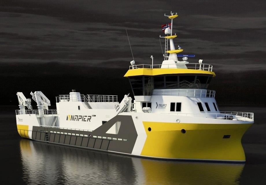 Napier på Bømlo har kontrahert en ny prosessbåt hos Fitjar Mek. Verksted. Foto: Napier