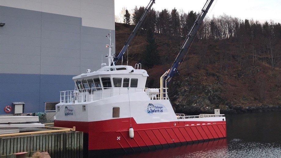 Grovfjord Mek. Verksted overleverte servicekatamaranen «Poseidon» til Ballangen Sjøfarm AS.