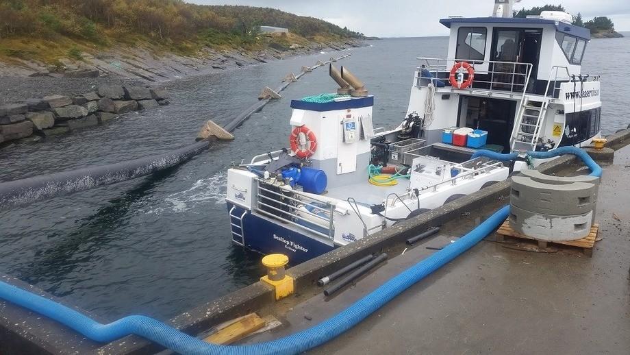 Fra sndre levering av rognkjeks fra Ryfylke Rensefisk sitt nyeste anlegg på Talgje. Foto: Kvitsøy Sjøtjenester
