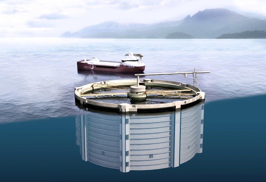 Konseptene til Aquantum Leap AS oppfyller ikke vilkåret til «betydelig innovasjon». Illustrasjon: Seafarming Systems/VisCo/Nutreco.