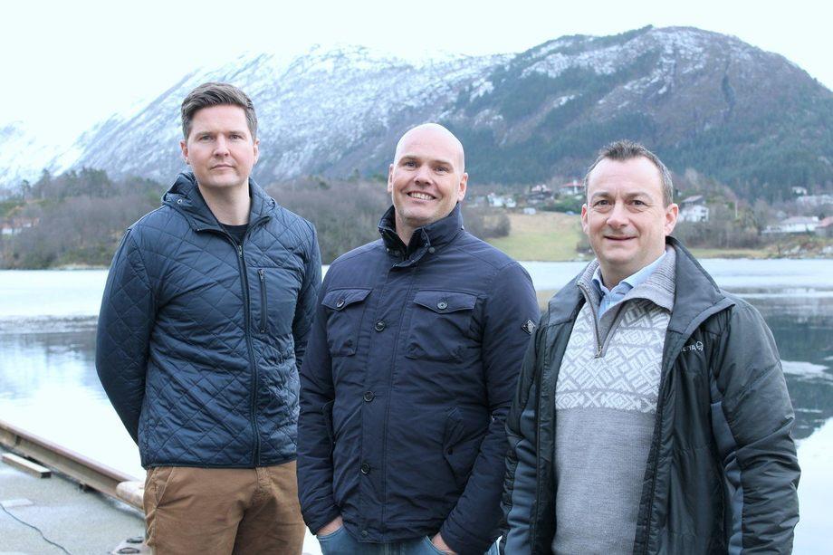 Teamet i Fjord Maritime. F.v. Øyvind Bakke, Stig Kalvenes og Vidar Rabben. Foto: Fjord Maritime.
