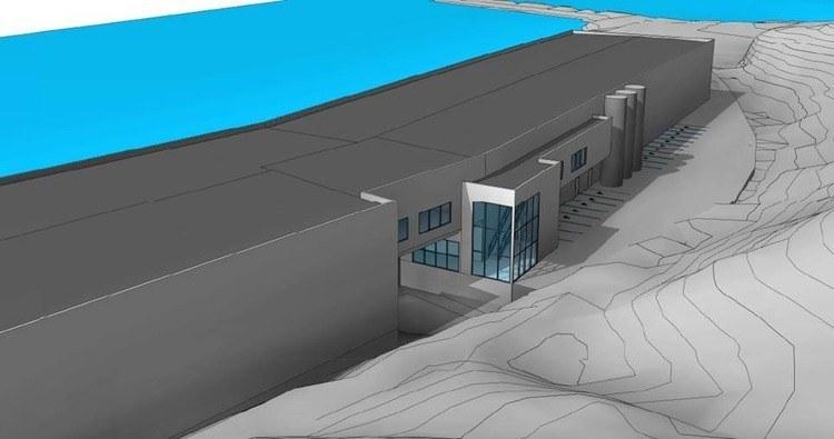Artec Aqua skal bygge et nytt rensefiskanlegg som skal kunne konverteres til å bli et lakseanlegg senere. Illustrasjon: Artec Aqua.