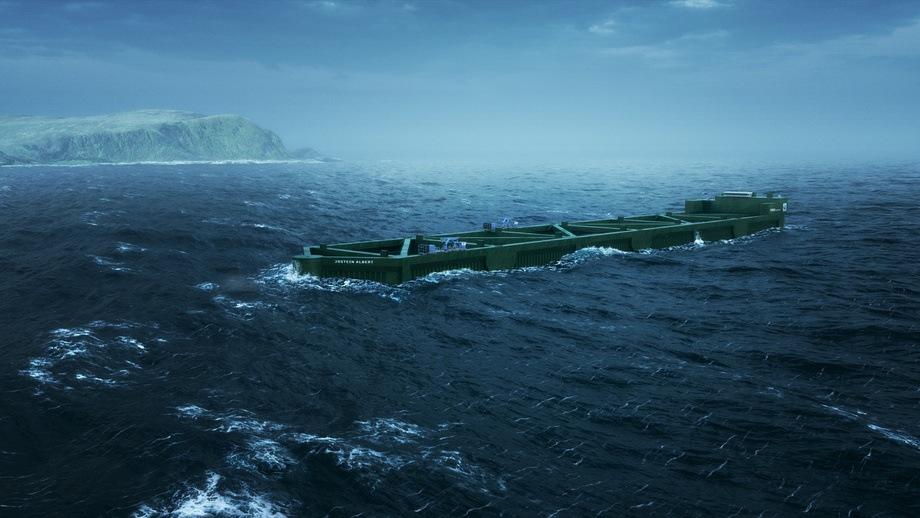 Havfarmes skal bygges. Illustrasjon: Nordlaks/NSK Ship Design/Bennett