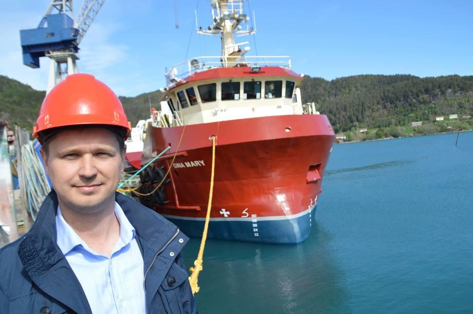 Havyard Leirvik brukte bare fem måneder på å bygge arbeidsbåten