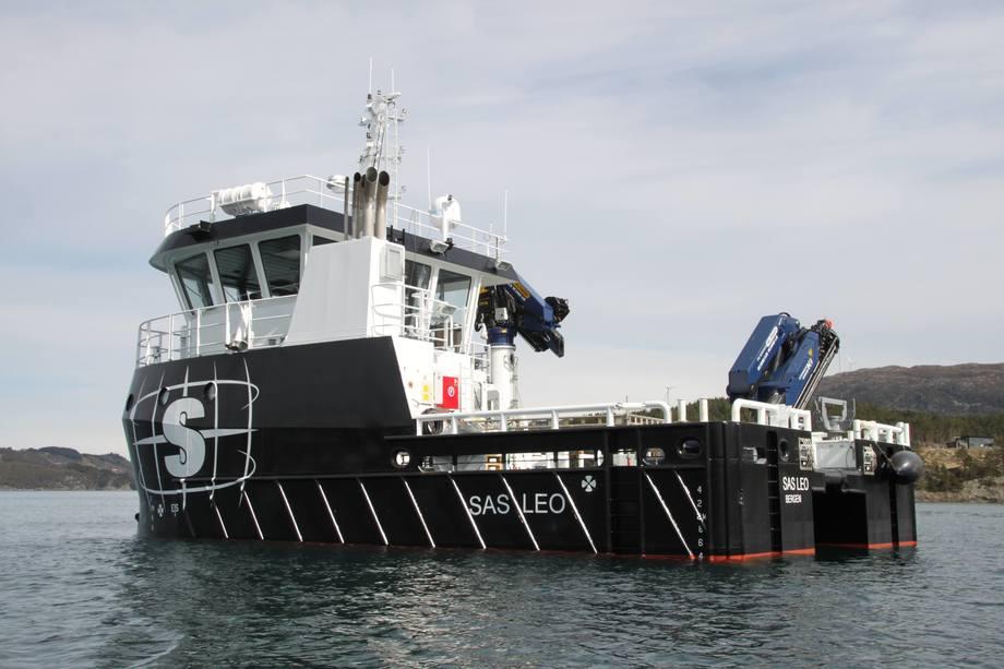 Med det nye fartøyet «SAS Leo», utvider Servicebåt AS flåten sin. Det nye fortøyningsfartøyet er produsert av Fitjar Mekaniske Verksted. Foto: Servicebåt AS.