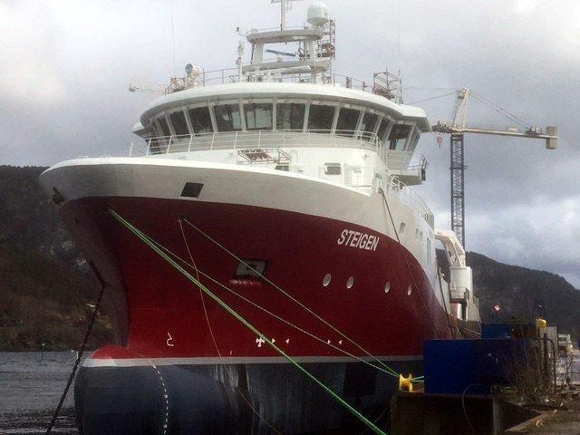MS Steigen skal operere for Cermaq i Nordland på en fem års kontrakt. Foto: Børge Lorentzen