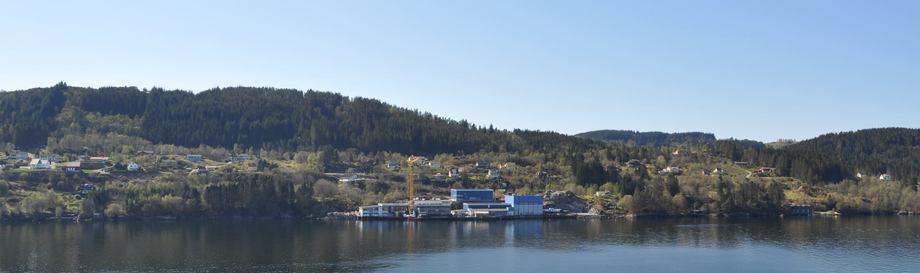 Mundal båt bygger pumpeflåte for Lerøy Midt. Foto: Mundal Båt