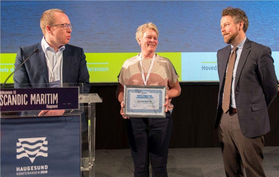 Egil Ulvan Rederi fikk utdelt prisen i 2018. Arkivfoto: Egil Ulvan Rederi