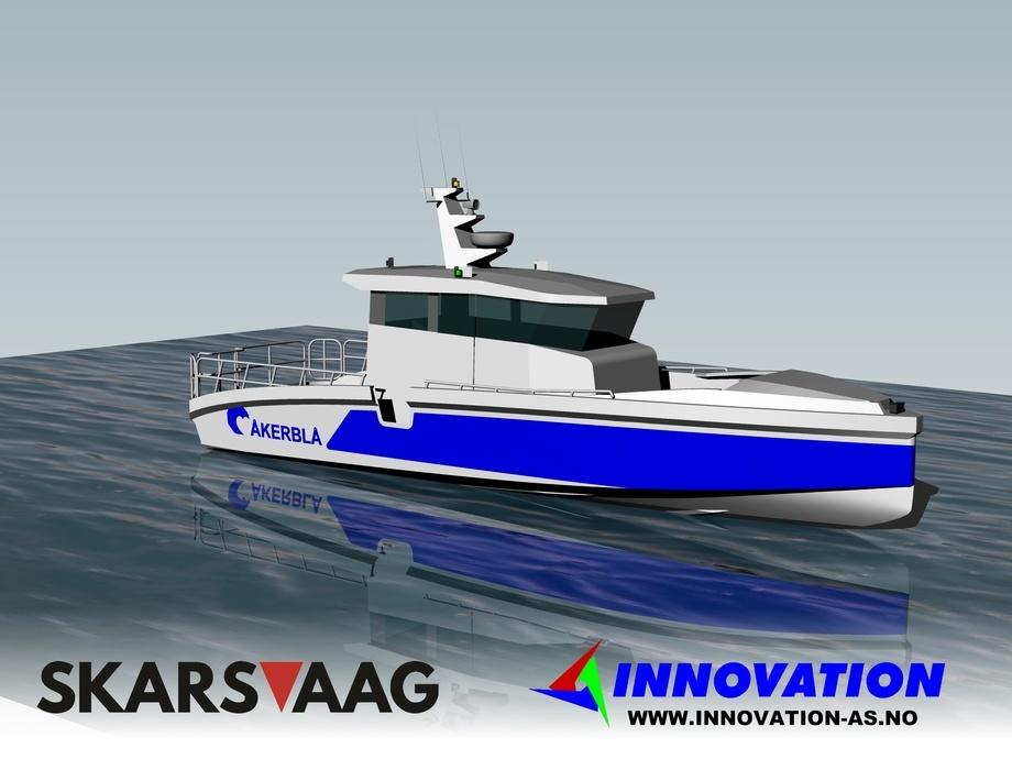 Kontraktsinngåelsen er betydningsfull for Skarsvåg Boats som vil komme til å bygge to tilsvarende båter parallelt. Illustrasjon: Skarsvaag Boats