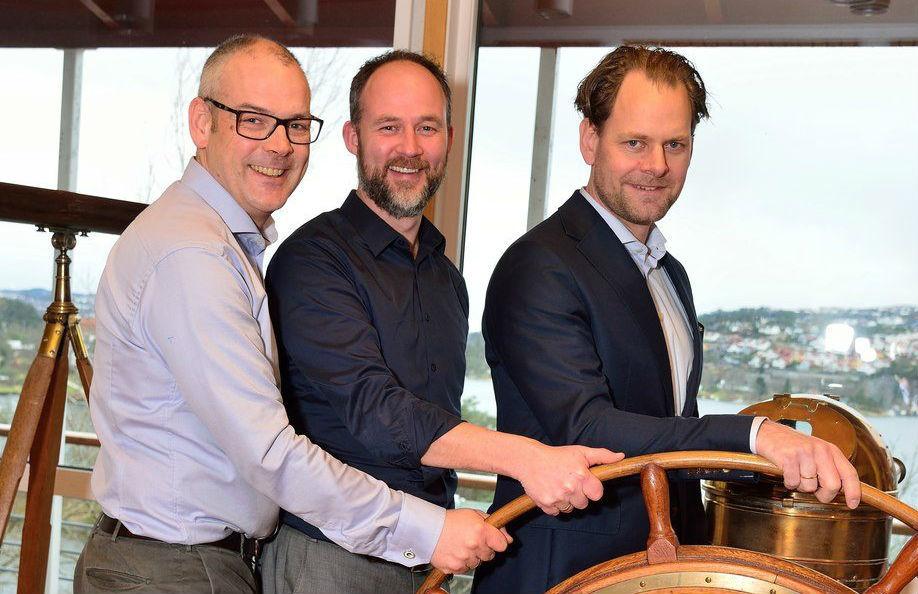 Fra venstre: Erik Mohn, Gisle Rong og Brede Gislefoss. Foto: Torbjørn Wilhelmsen, wikos.no