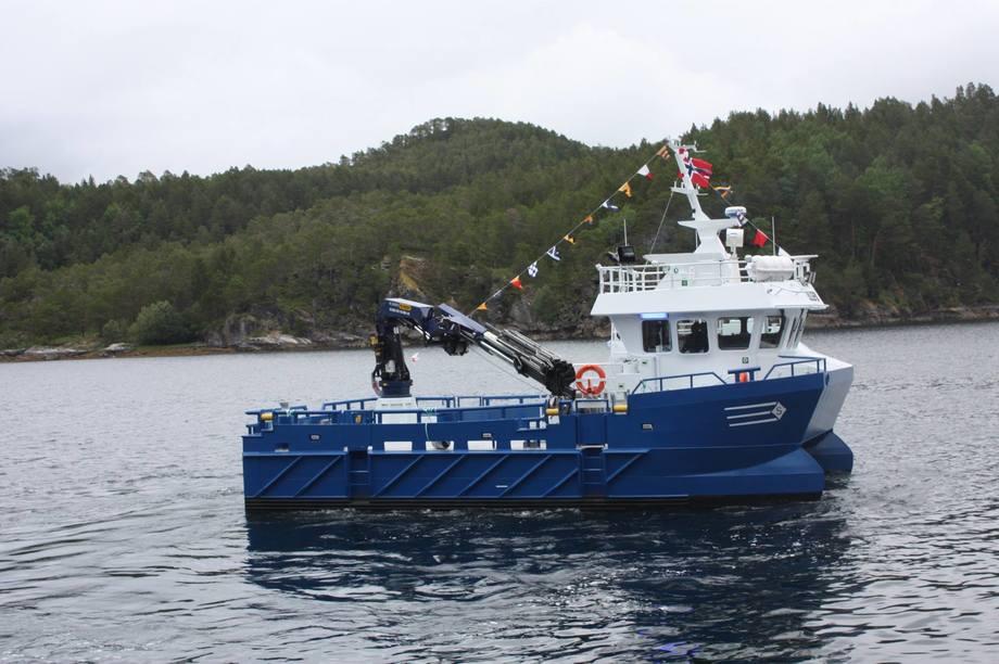 Røkterbåten «Lillefix» ble i juli 2017 overlevert fra Sletta Verft til Gildeskål Forskningstasjon. Foto: Sletta Verft.