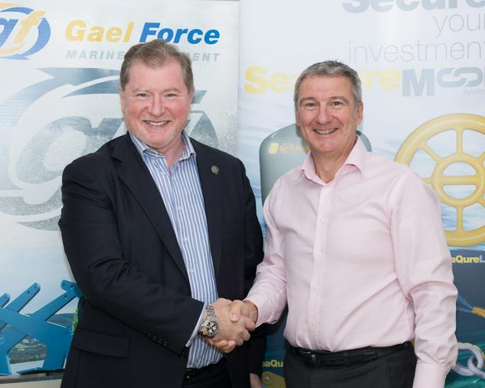 Gael Force MD Stewart Graham, right, and SSC chief executive Craig Anderson have agreed another deal between the firms.