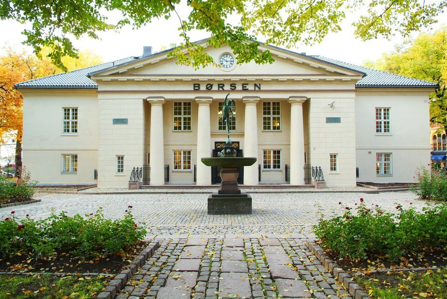 Entrada a la Bolsa de Oslo. Foto: Bolsa de Oslo.