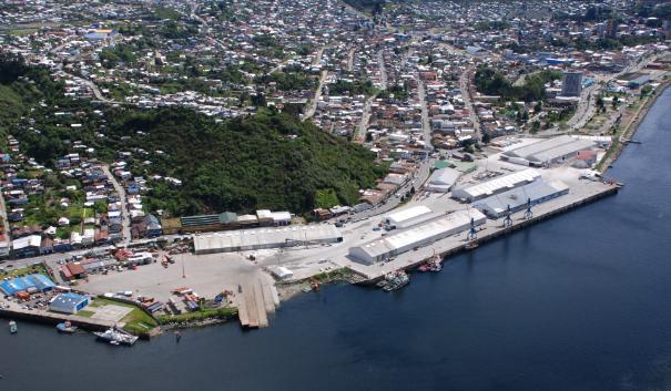 Imagen referencial del Puerto de Puerto Montt. Fuente: Municipalidad de Puerto Montt.