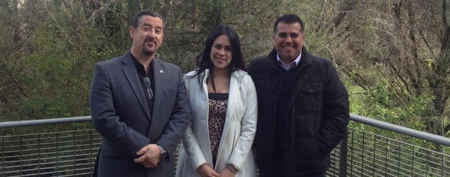 Dr. Jaime Figuero, Mg. Lady  Castro y Dr. Rubén Avendaño-Herrera. Foto: Incar.