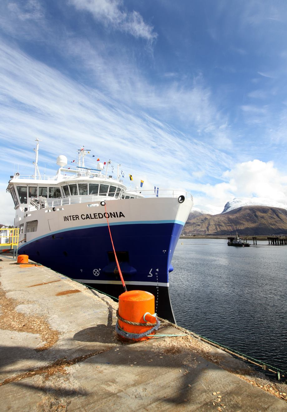 The Inter Caledonia, which was officially launched by MH Scotland in April, is one of a number of vessels designed to deliver non-chemical lice treatments. Image by Arthur Campbell.