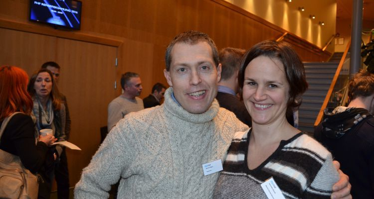 Øyvind Vågnes from Vaxxinova and Henriette Glosvik from Marine Harvest at the cleanerfish conference in Oslo this week
