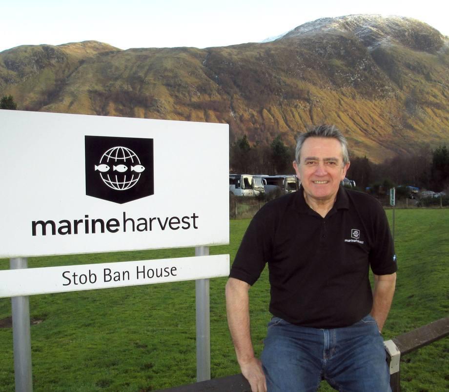Steve Bracken is Marine Harvest's longest-serving employee, having joined in 1977. Photo: Marine Harvest