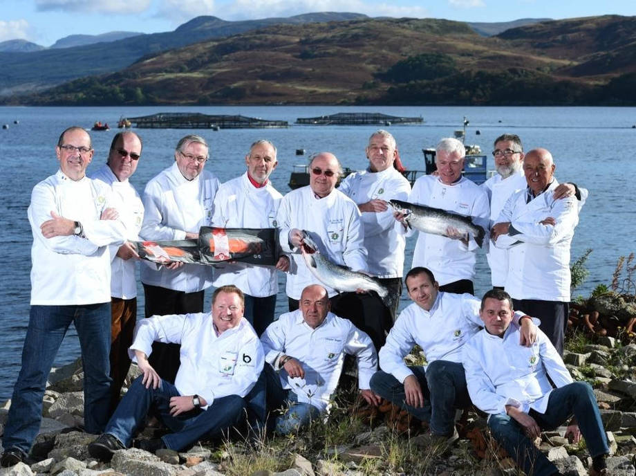 Top French chefs pictured on a visit to Scotland last year. France is now the top export market for Scottish salmon. Photo: SSPO