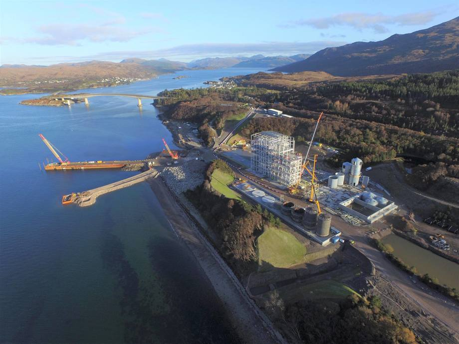 Work is progressing at pace on Marine Harvest's £93 million feed plant at Kyleakin. Photo: Marine Harvest