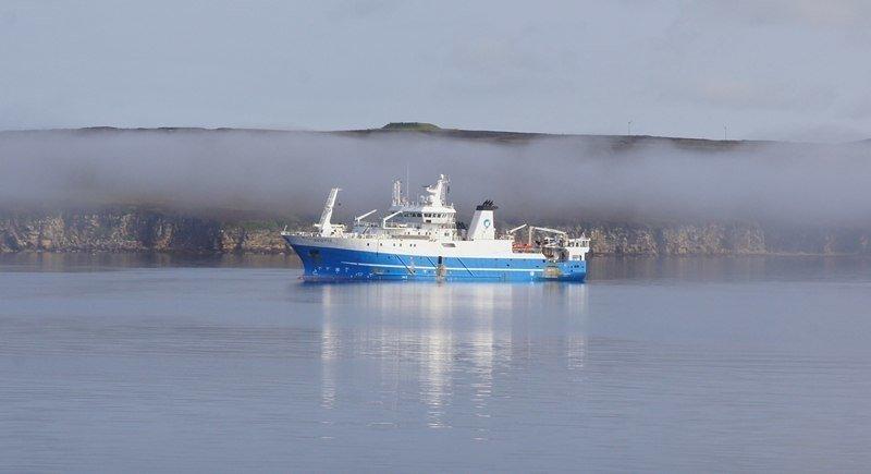 The MRV Scotia spent 283 days at sea. Photo: Michael Stewart/Marine Scotland Blog