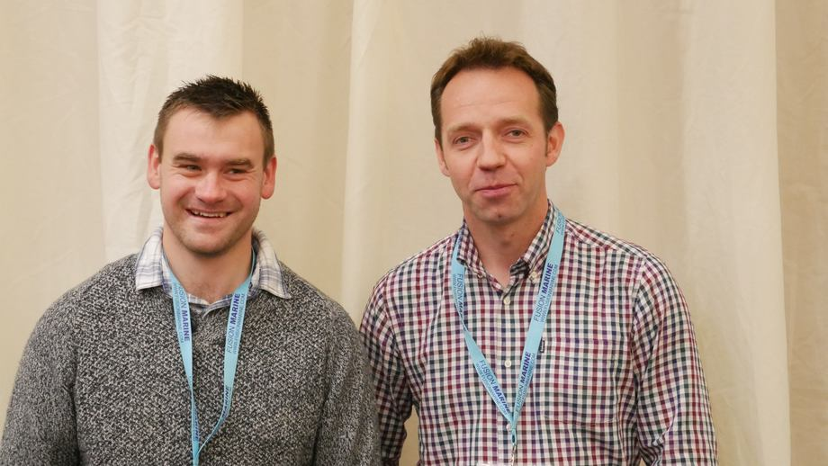 Danny Cowing, left, and Michael Tait, who have been involved in the pilot spat hatchery project. Photo: Fish Farm Expert