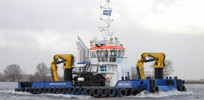 The Delta Marine Multicat Voe Earl will be used for the operation of MH Scotland's second Thermolicer. Photo: Delta Marine