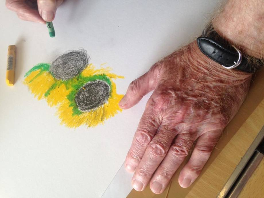 A sense of porpoise: the Dolphin Project art classes help those with dementia. Photo: SSF